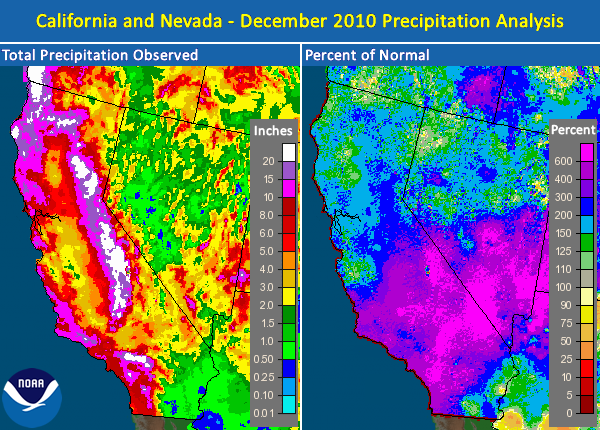 December 2010 Precipitation Map